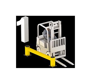 Les avantages des barrières amortissantes - Avant l'impact - Barriere-flexible.fr