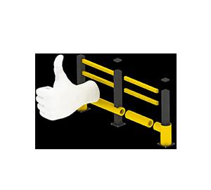Les avantages des barrières amortissantes - Une installation facile et modulaire - Barriere-flexible.fr