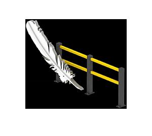 Les avantages des barrières amortissantes - Une légèreté inédite - Barriere-flexible.fr