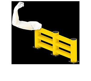 Les avantages des barrières amortissantes - Une résistance équivalente au métal - Barriere-flexible.fr